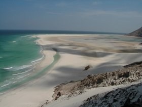 After a short climb just outside Qalansia it is possible to enjoy one of the most stunning views of the SOcotra island. The Ditwah Bay shines with tortoise colors and foamy sea waves are more than inviting.